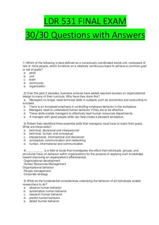 Ldr 531 final exam   slide share