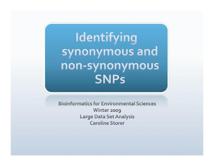 Non-synonymous SNP ID