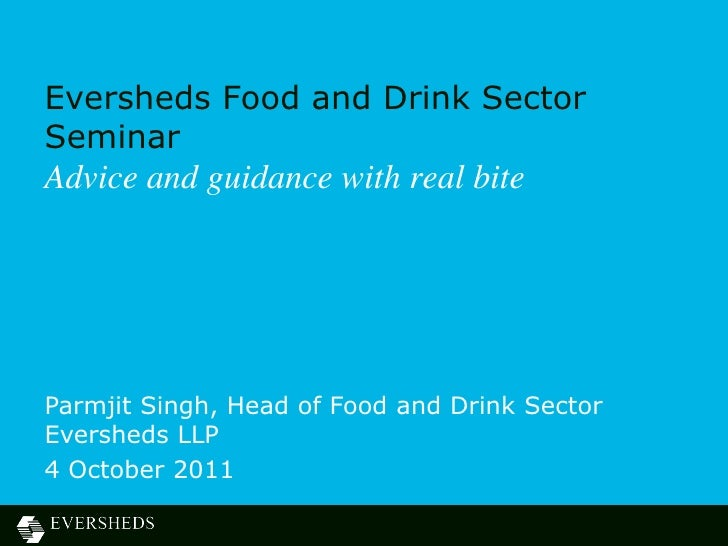 Food and Drink Seminar, Birmingham - 4 October 2011