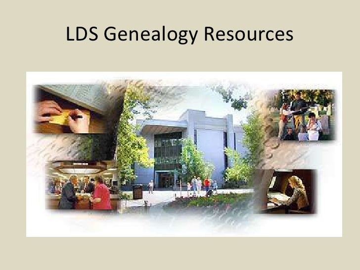 Lds genealogy resources