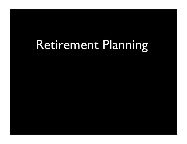 Retirement Planning - Self Reliance Fair
