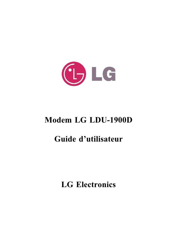Modem LG LDU-1900D   Guide d'utilisateur        LG Electronics