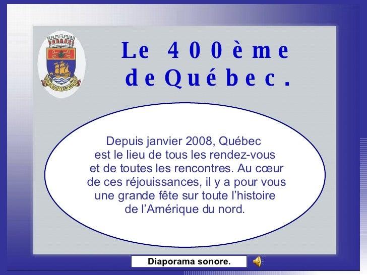 Le 400eme De Quebec