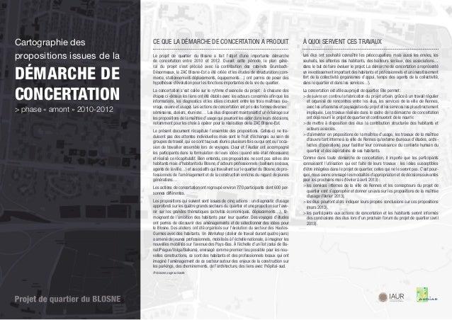 Cartographie des               CE QUE LA DÉMARCHE DE CONCERTATION A PRODUIT                                             À ...
