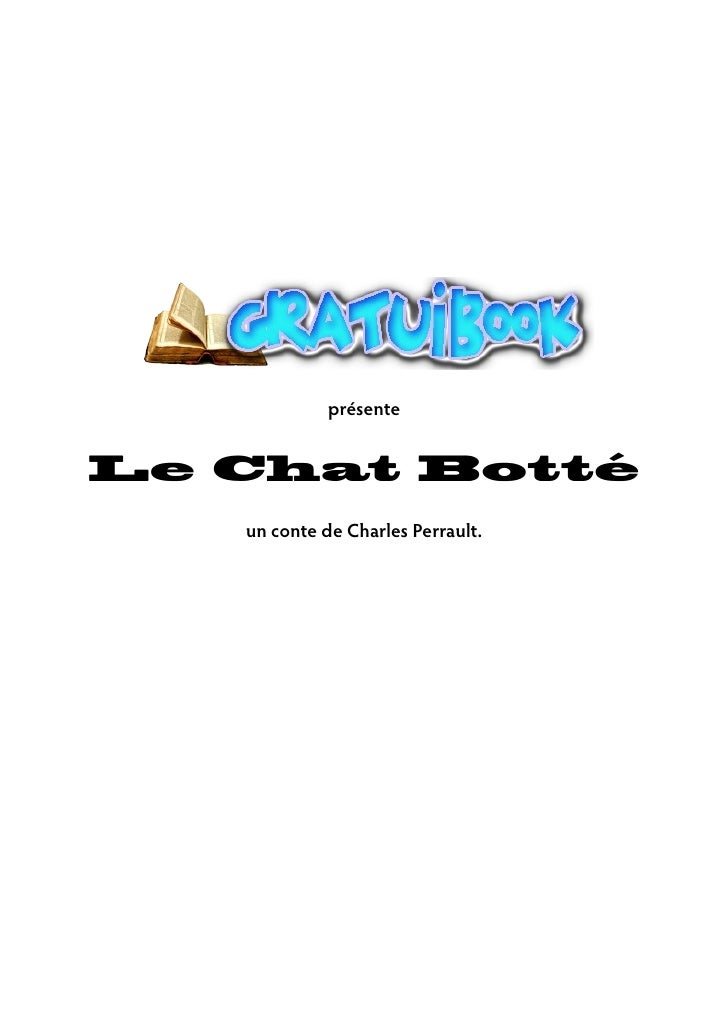 présente   Le Chat Botté    un conte de Charles Perrault.