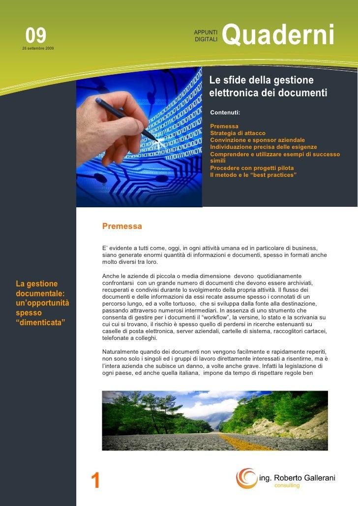 Le sfide della gestione elettronica dei documenti