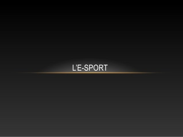 L'E-SPORT