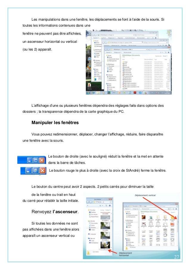 Le systeme d exploitation windows e greta for Reduire fenetre windows
