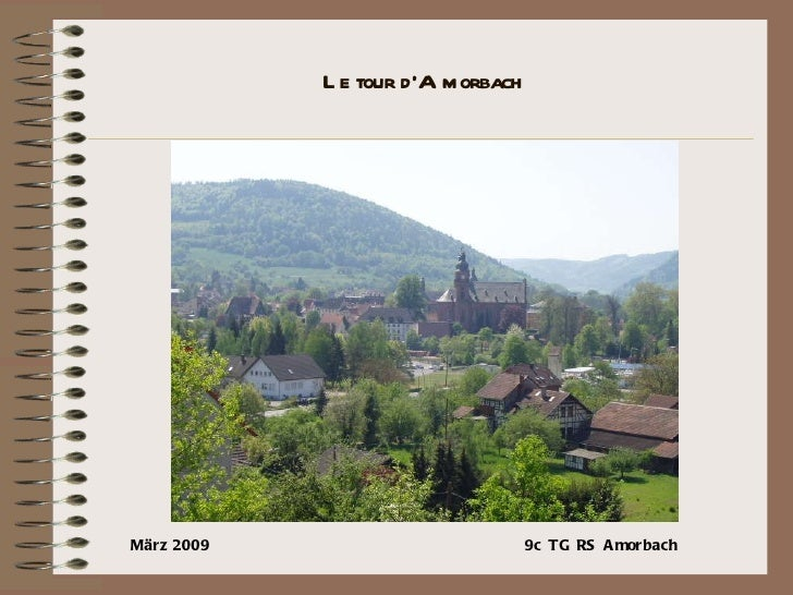Le tour d'Amorbach