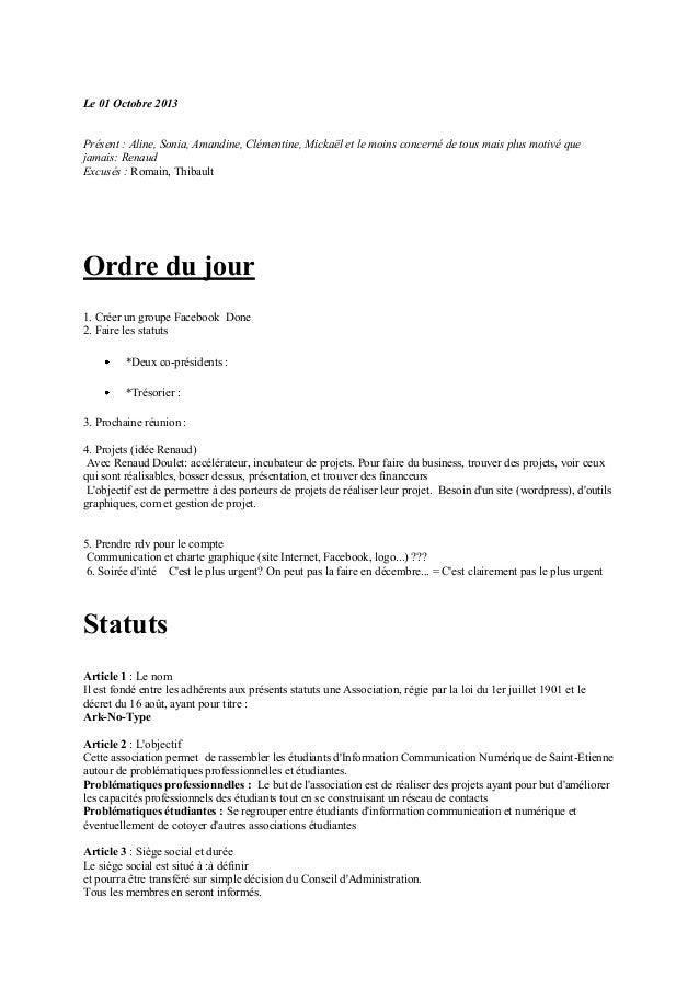 Le 01 Octobre 2013 Présent : Aline, Sonia, Amandine, Clémentine, Mickaël et le moins concerné de tous mais plus motivé que...