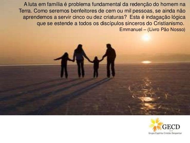 A luta em família é problema fundamental da redenção do homem na Terra. Como seremos benfeitores de cem ou mil pessoas, se...