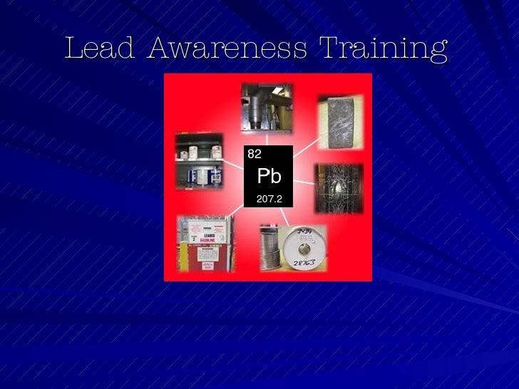 Lead Health Hazard Awareness