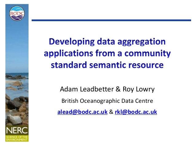 Semantically Aggregating Marine Science Data
