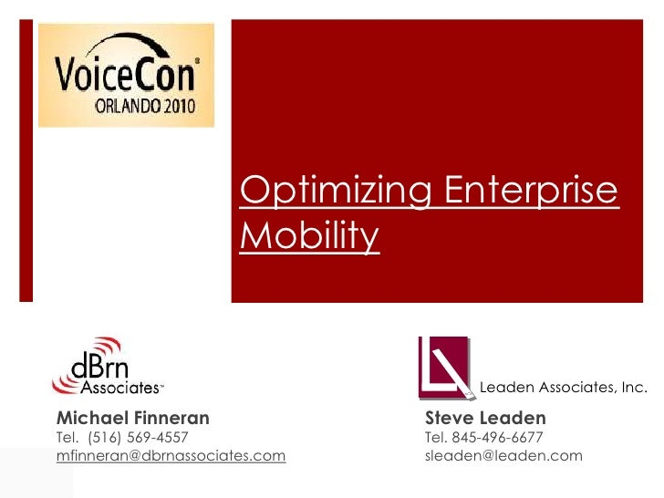 Managing Mobility Costs