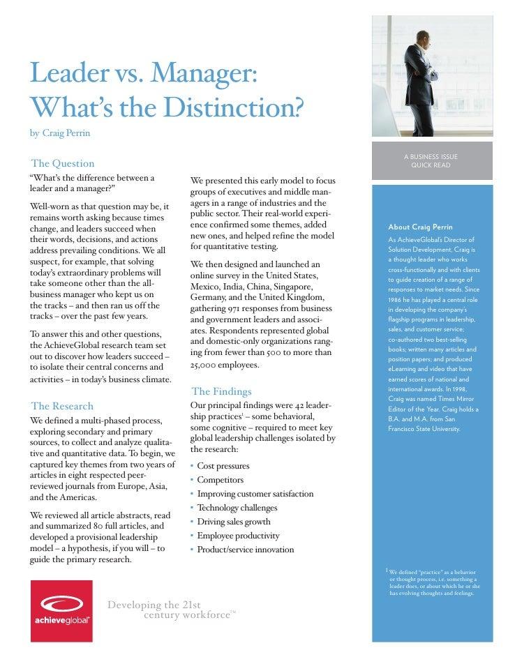Leader v. Manager: What\'s the Distinction?