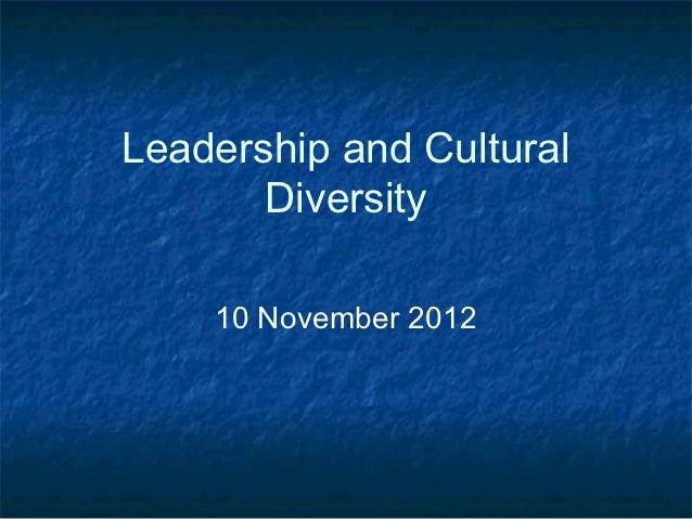 Leader&cultural diversity