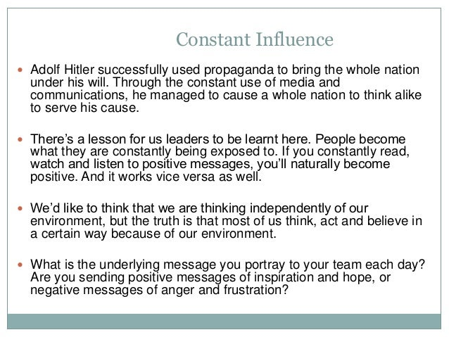 adolf hitler leadership style essay Adolf hitler was born on 20th april 1889, in the small austrian town of braunau when the world war i began in 1914, hitler volunteered to j.