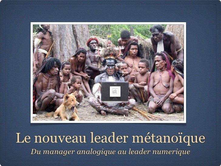 Le nouveau leader métanoïque   Du manager analogique au leader numerique
