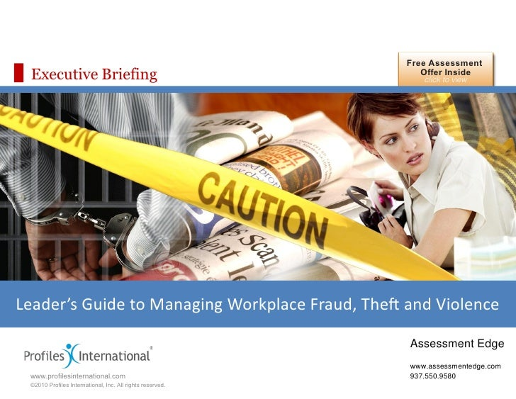 Leader's Guide to Managing Workplace Fraud, Theft, and Violence