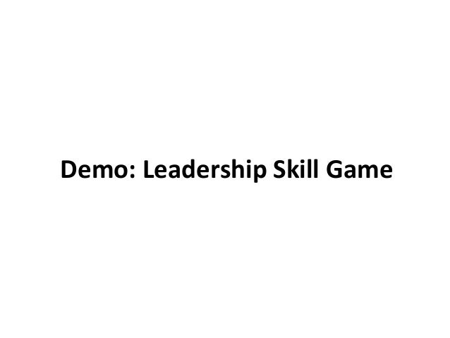 Demo of Game: Leadership Skill Builder Game