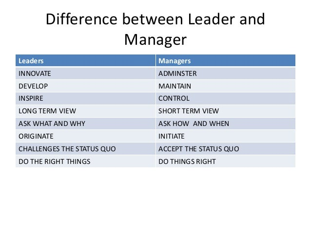 what are the differences between management