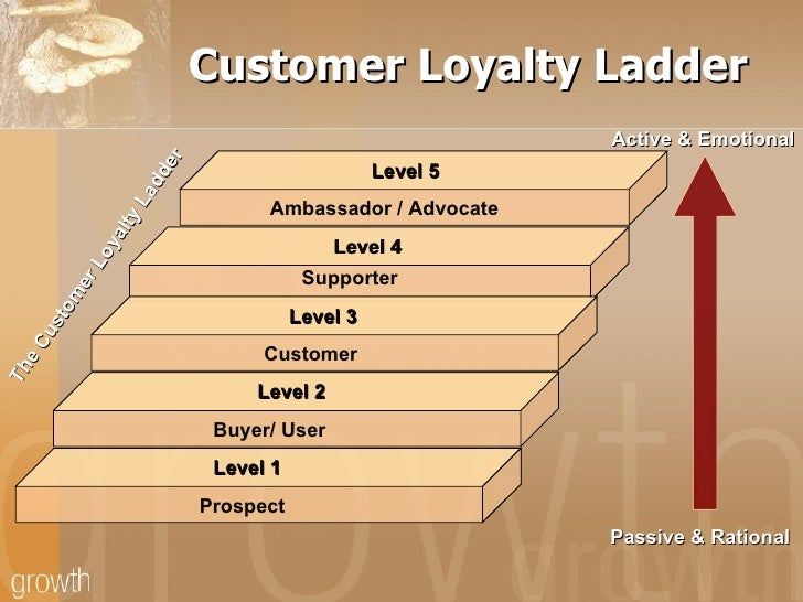 customer loyalty ladder The loyalty ladder is a tool for marketing both the loyalty ladder and the pareto principle are useful because they aid customer retention and loyalty.