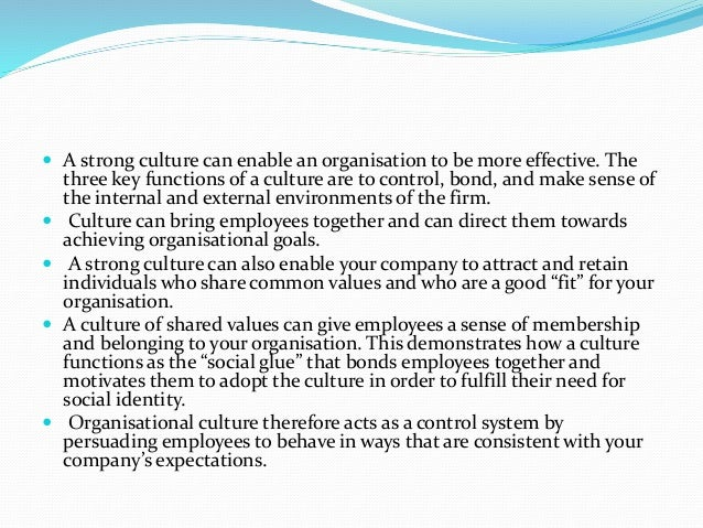 organisations need strong culture consider this Creating and sustaining an ethical workplace culture new personnel need to be socialized into the organization so as to advance virtuous values consider adapting the six virtuous values and aligning them with key managerial leadership actions such as selection.