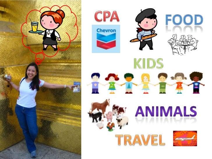 CPA<br />FOOD<br />KIDS<br />Animals<br />TRAVEL<br />