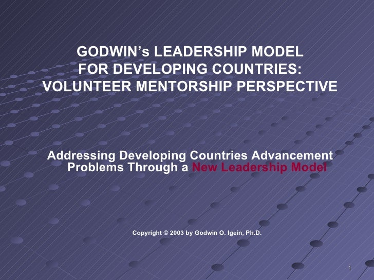 Leadership Model For Developing Countries