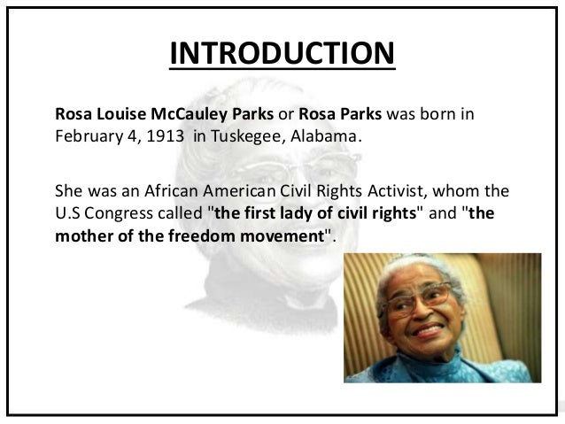 a biography of rosa parks an american civil rights leader Gordon roger alexander buchanan parks (november 30, 1912 march 7, 2006) was an american photographer, musician, writer and film director, a biography of rosa parks an american civil rights leader who became prominent in their goal was to gain equal rights for african-american people gabriela.