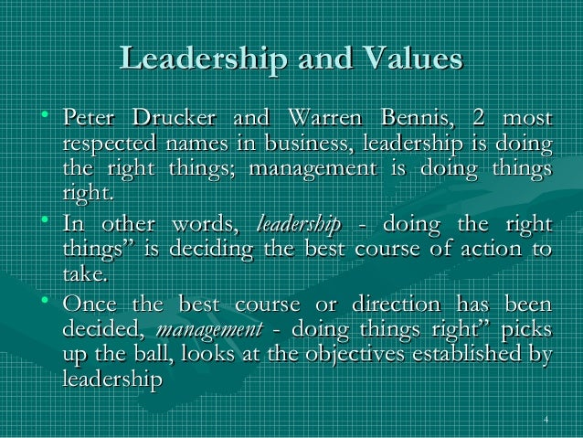 the principles of the leadership by warren bennis Renowned leadership scholar and usc professor warren bennis  is a book  that explores the principles of effective leadership at all levels.
