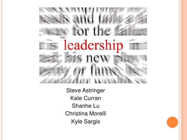 Steve Astringer<br />Kate Curran<br />Shanhe Lu<br />Christina Morelli<br />Kyle Sargis<br />