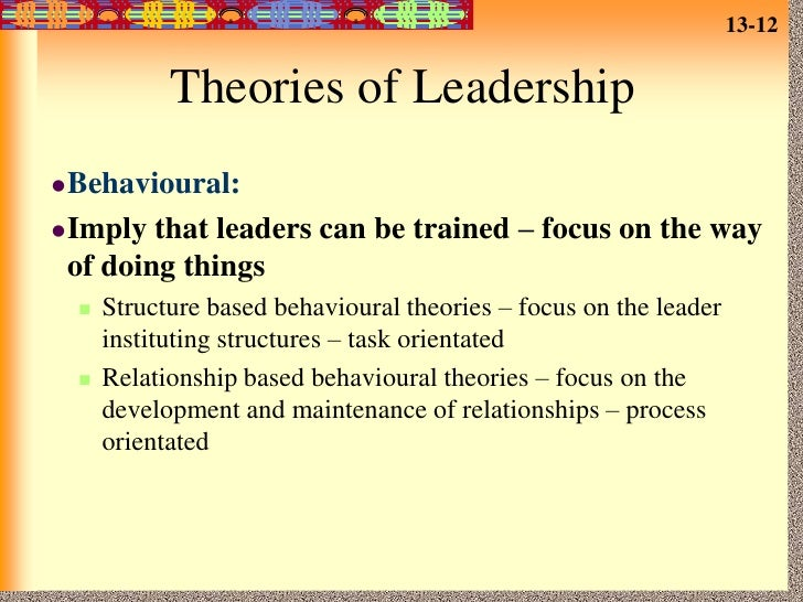 leadership styles and theories Leadership theory and competency frameworks  may be differences in required leadership styles at different levels in the same organisation contingency.