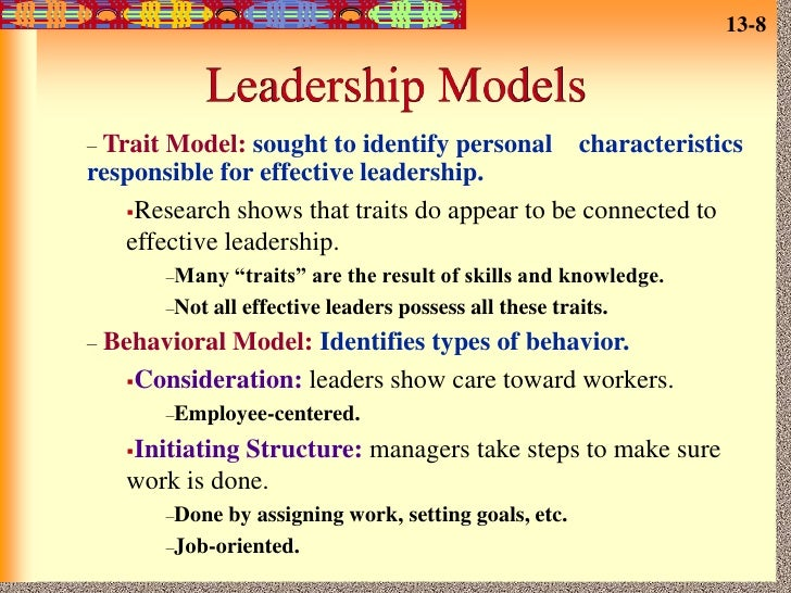 four levels of conceptualization for leadership theories Leadership theories often deal only with a partial set of relevant variables (yukl, 1989) much confusion results from the disparity of approaches and the absence of broader theories to integrate findings from differing viewpoints (yukl and van fleet, 1992.
