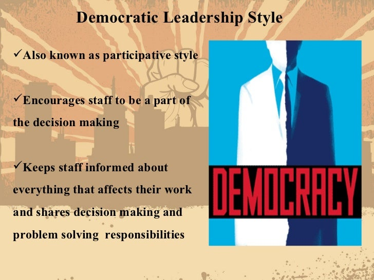 democratic leadership style in nursing