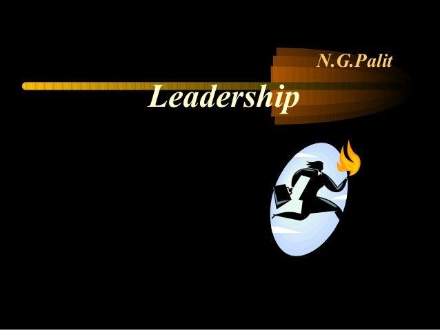 N.G.Palit Leadership