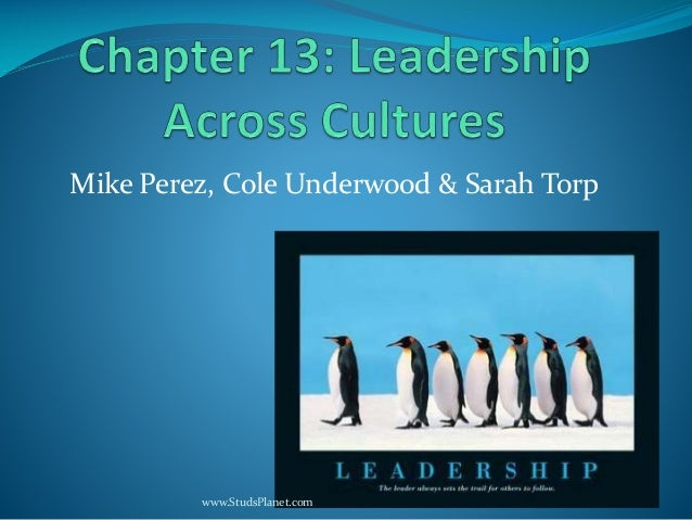 Leadership across culture