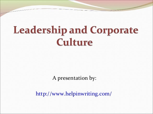 corporate culture and leadership pdf