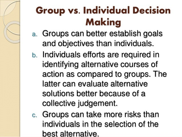 Leadership and group decision making