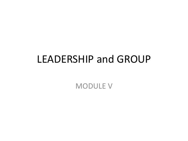 Leadership and group