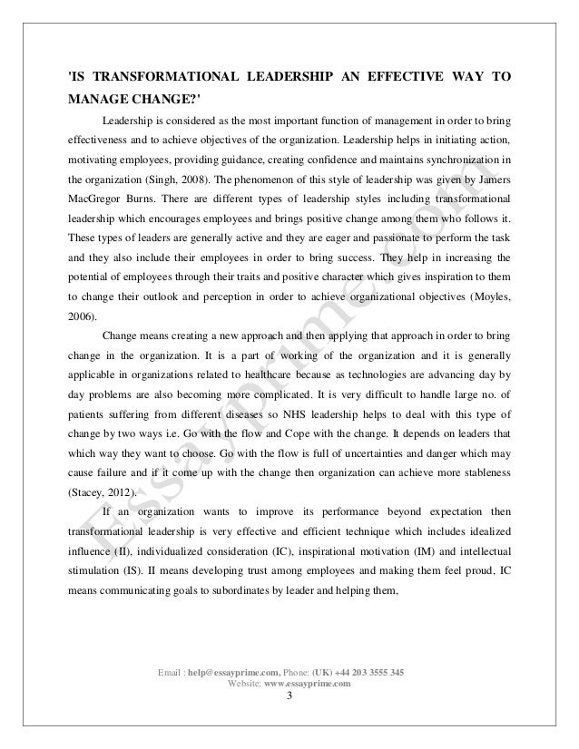 Leadership and management paper