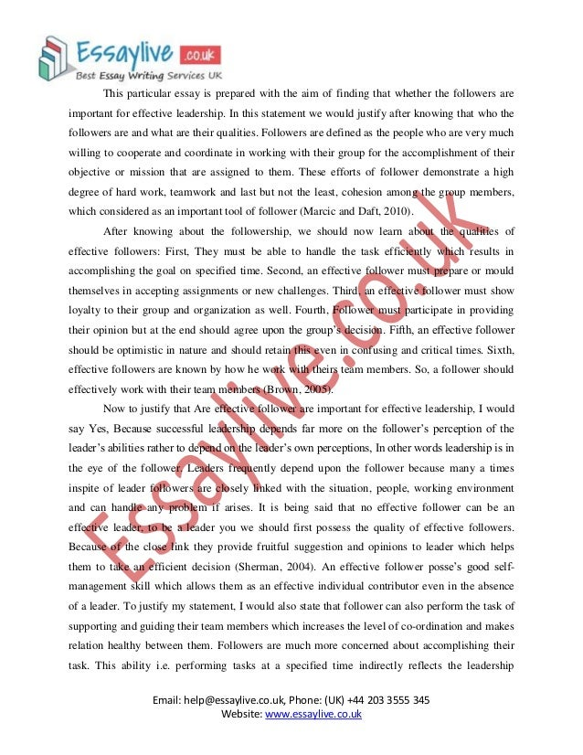 Leadership essays introduction