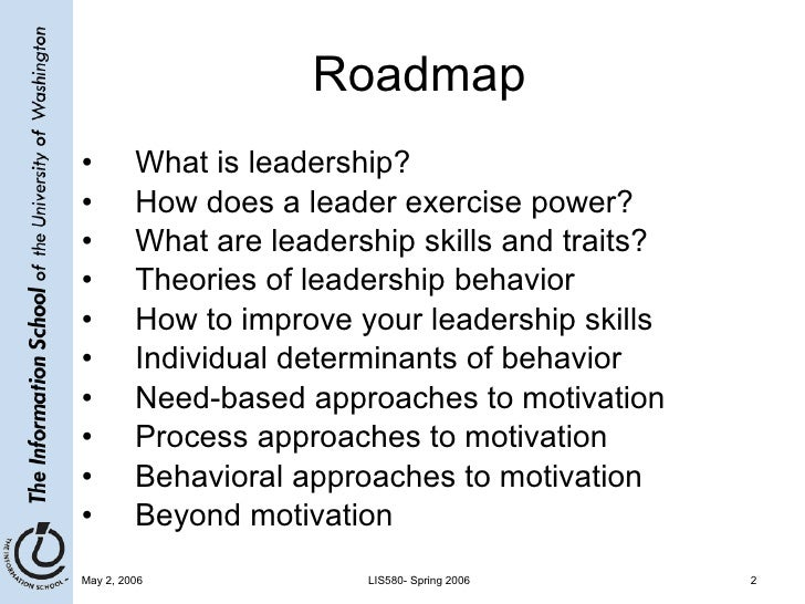 leadership and motivation for the project