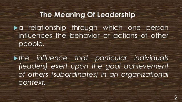 the meaning of leadership Blog on leadership definitions by scholars from all around the world.