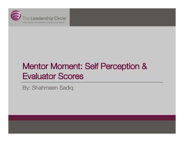 Mentor Moment: Self Perception & Evaluator Scores