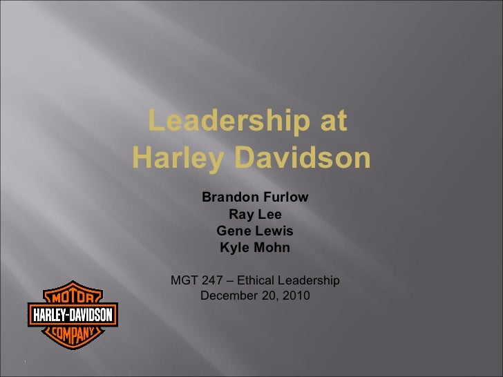 Leadership at harley davidson   draft 122010