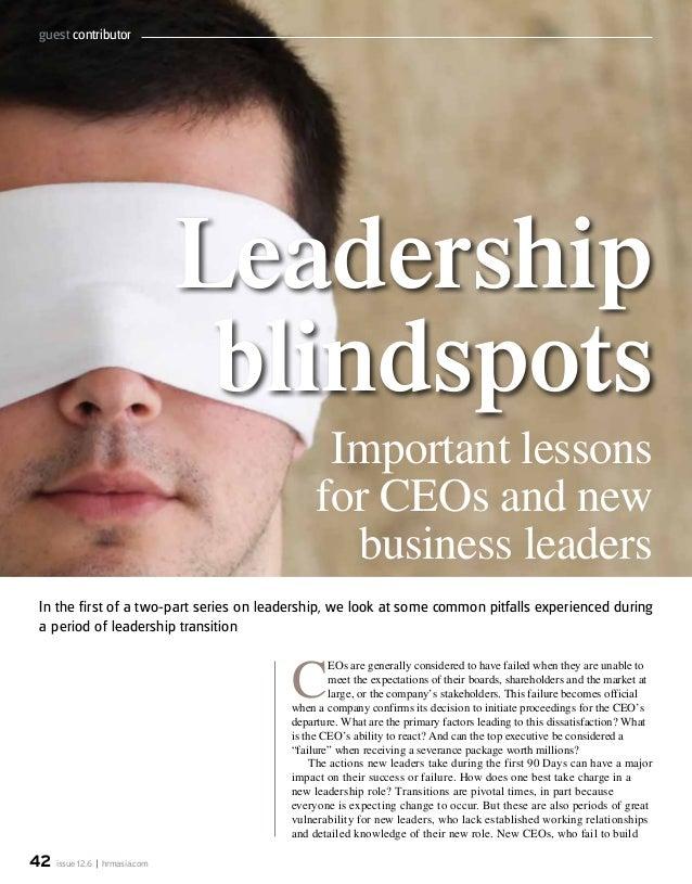Executive Onboarding - Leadership Blindspots  HRM June 2012