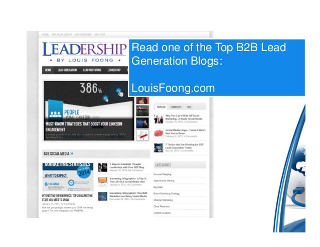 One of the top B2B Lead Generation Blogs