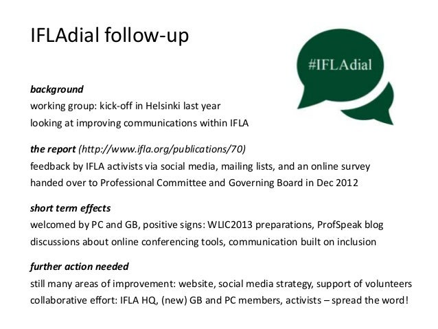 IFLAdial follow-up