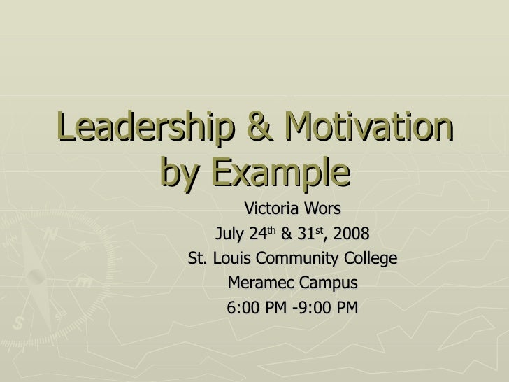 Leadership By Example   Notes